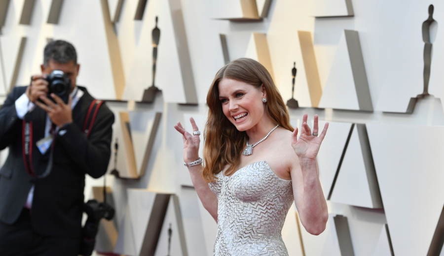 Amy Adams arrives at the Oscars on Sunday, Feb. 24, 2019, at the Dolby Theatre in Los Angeles. (Photo by Jordan Strauss/Invision/AP) 91st Academy Awards - Arrivals