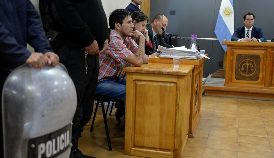 Boris Hermosilla llegó a juicio por el homicidio de Hugo Collihuin. (Foto: Alfredo Leiva)