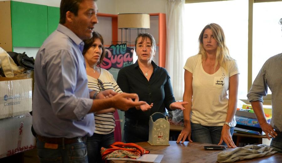 Soria fue recibido en una librería (Chino Leiva)