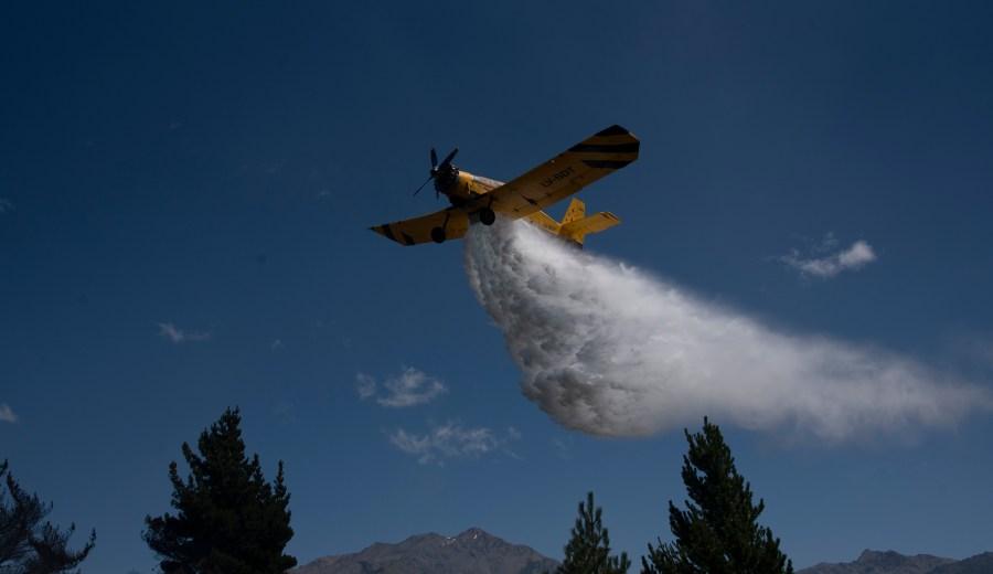Epuyen 30-01-2019 Continuan los incendios forestales en la zona de Epuyen. Foto: Marcelo Martinez