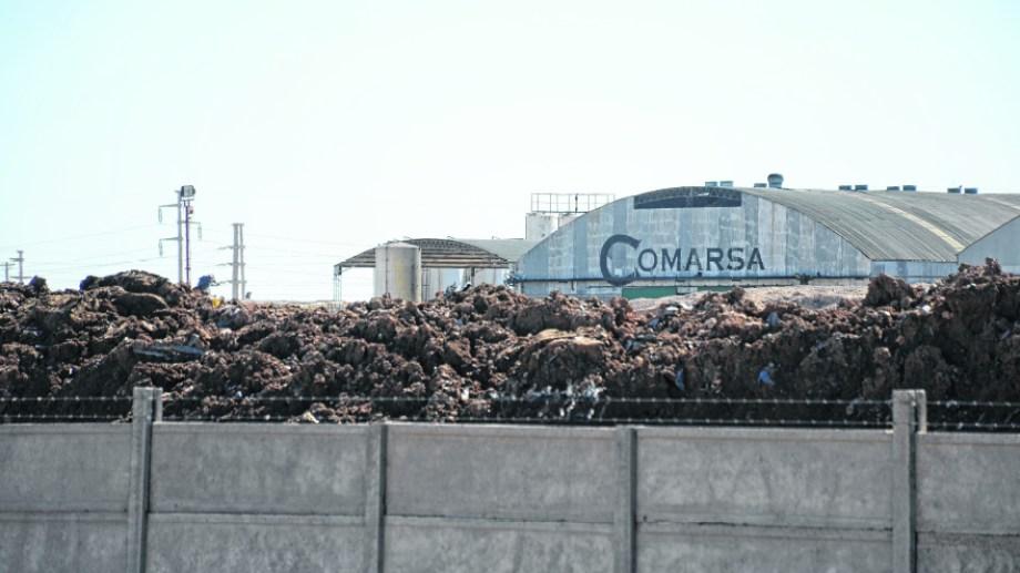 El predio de Comarsa en el Parque Industrial de Neuquén. Foto: Archivo.