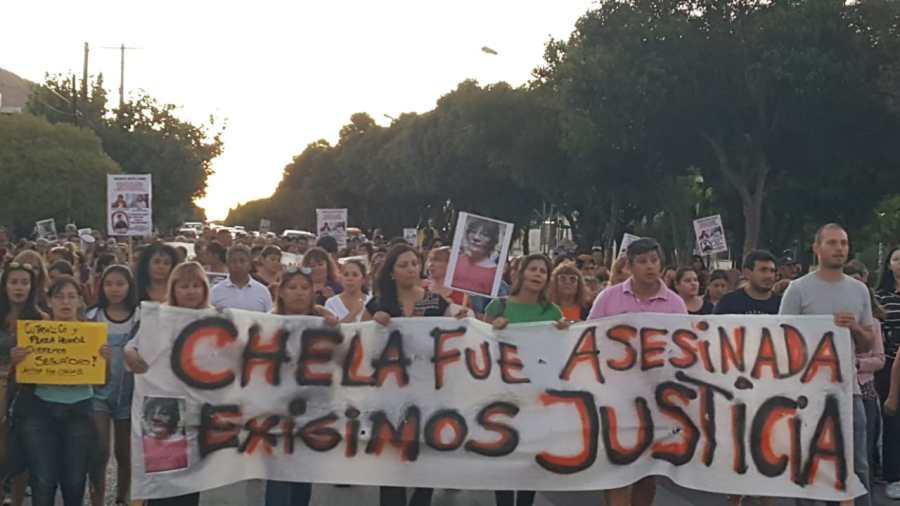 Los vecinos marcharon en el límite de las dos ciudades. Foto: Andrea Vázquez