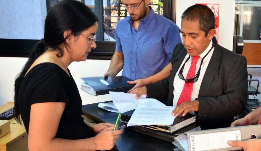 La presentación se realizó en el Tribunal Electoral. (Foto: Marcelo Ochoa)