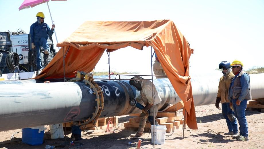La firma Exxon montó un gasoducto en la zona de Rincón de los Sauces. Foto: Archivo.