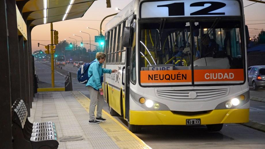 La concesión de Autobuses Neuquén finaliza el 28 de febrero. Foto: Archivo.