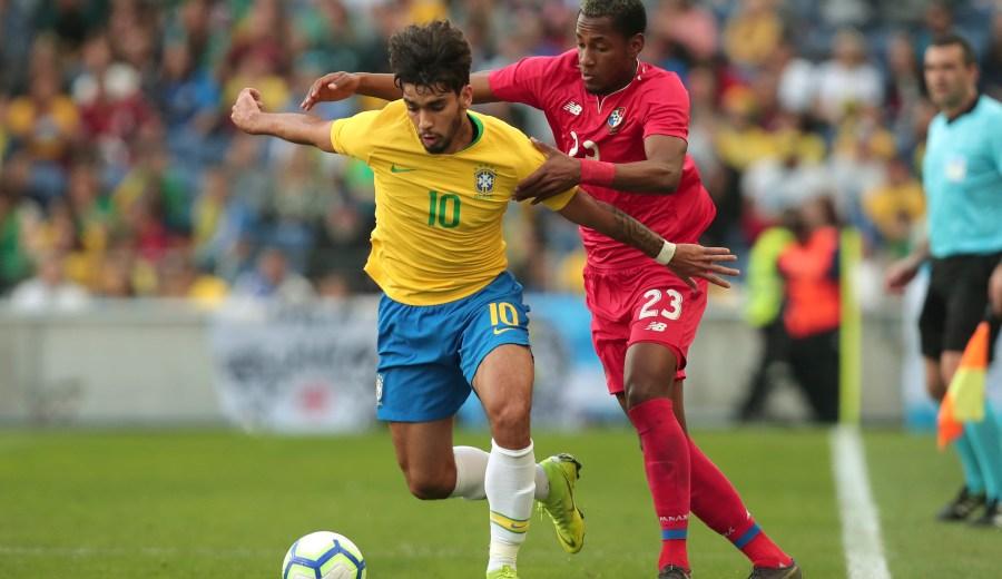 Lucas Paquetá marcó el único tanto de Brasil, en el empate 1-1 ante Panamá