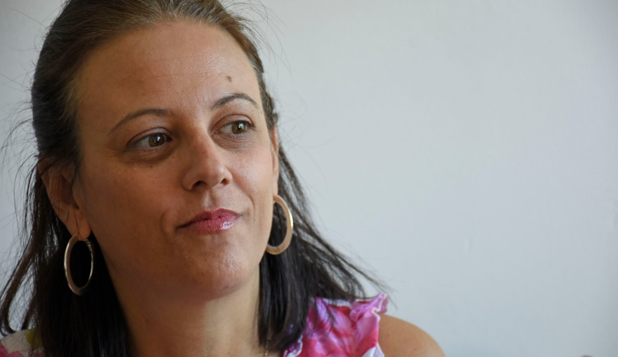 La candidata a gobernadora por Libres del Sur, Mercedes Lamarca, afirmó que pedirá más presupuesto para la Universidad del Comahue. (Archivo Florencia Salto).-