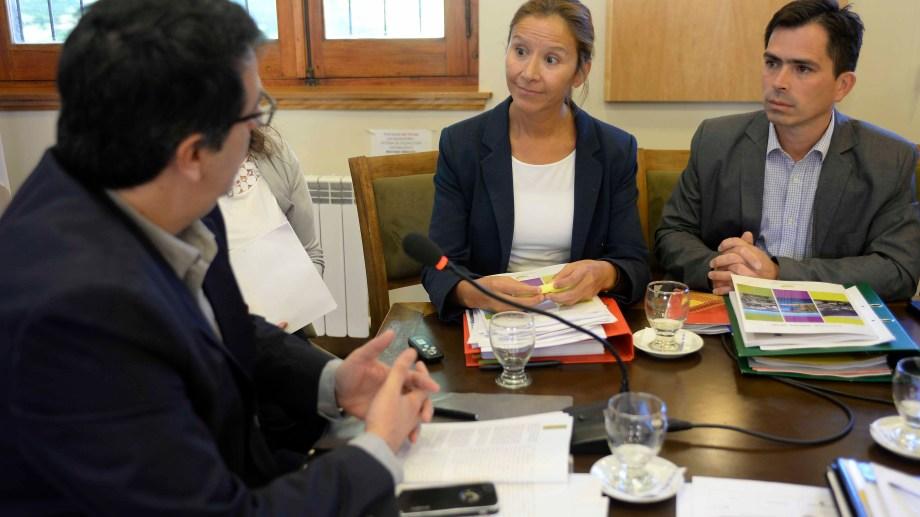 La actual defensora, Beatriz Oñate, en la presentación de un informe anual en el Concejo.