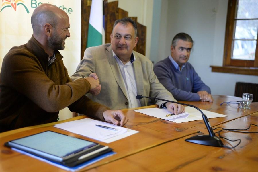 El ministro Guillermo Dietrich estuvo este miércoles en Bariloche. (Foto: Alfredo Leiva)