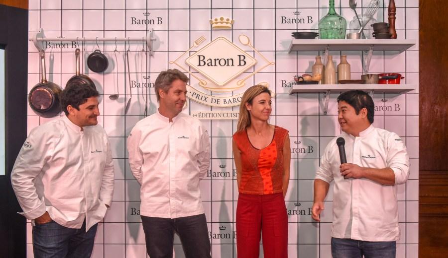 El jurado compuesto por Mauro Colagreco, Martín Molteni, Marina Beltrame y Micha Tsumura en la 2da edición del Prix de Baron B - Édition Cuisine