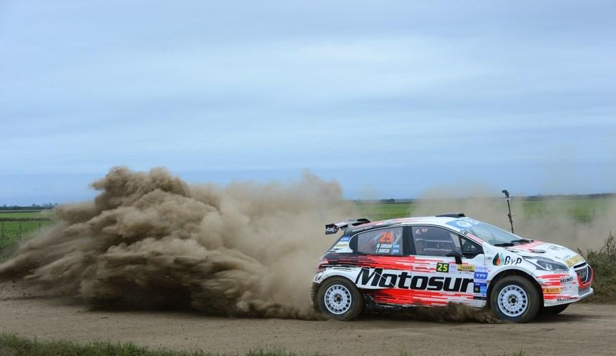 Martín Suriani está segundo en su división en el Rally Argentino. Gentileza.
