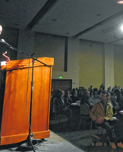 En la tradicional Fundación Mediterránea. Lavagna dio una conferencia de prensa.  (Télam)