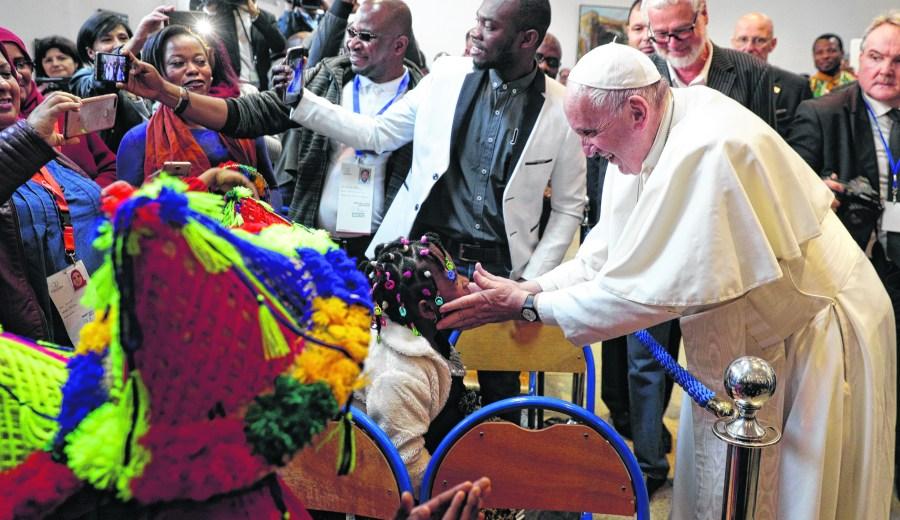 El papa Francisco, en Marruecos. Nueva promesa de visita. Foto: AP