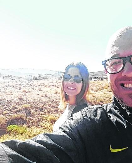"""Selfie en la Línea Sur. """"Una buena elección"""", afirman.  Foto: gentileza"""