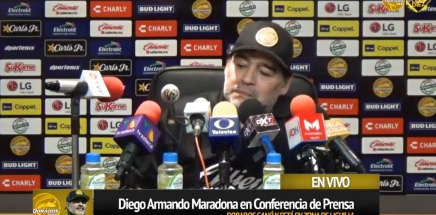 Maradona no se guardó nada. Gentileza.