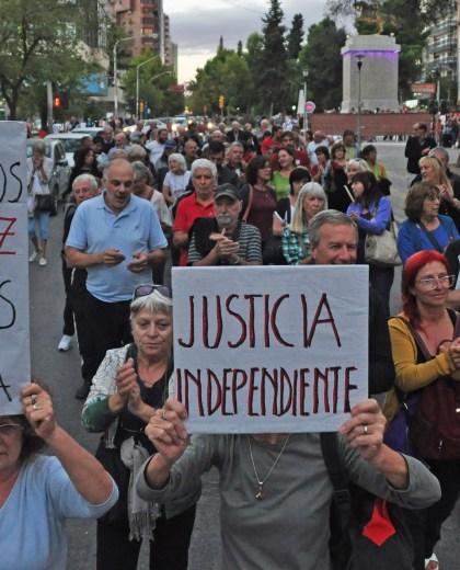 La manifestación en apoyo al juez Ramos Padilla.  Foto: Juan Thomes