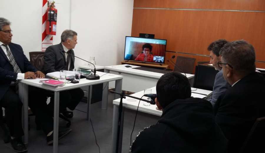 La audiencia se realizó mediante el sistema de teleconferencia en la sede judicial de Regina - Foto: Pablo Accinelli.
