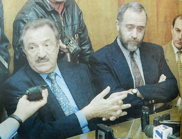 El gobernador Verani y el entonces intendente Gentile Foto: Archivo