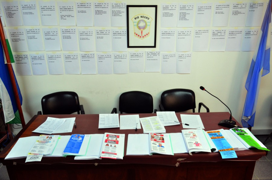 El Tribunal Electoral rionegrino aceptó boletas de colores y con fotografías