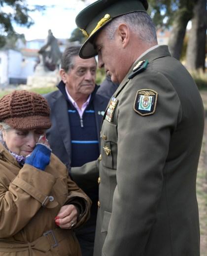 Teodora Mariqueo, la madre de Víctor Olavarría, participó de los actos. Foto: Chino Leiva