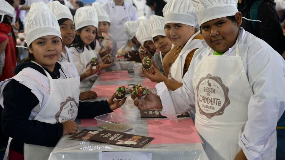 Los niños fueron los protagonistas de la Fiesta del Chocolate. (Foto: Alfredo Leiva)