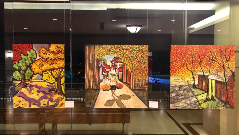 El gran salón Turf de la Tribuna Paddock albergó la vida artística de la neuquina que recorrió el mundo de la mano de su arte.