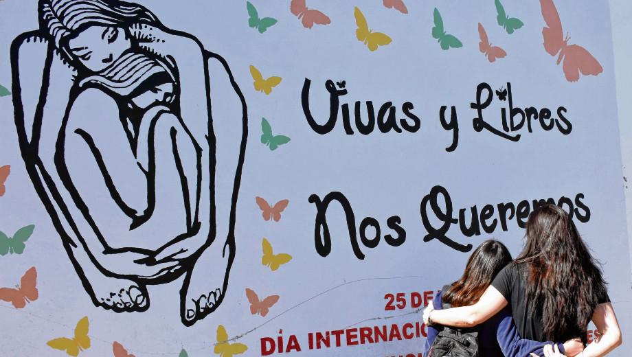 Cada 25 de noviembre se conmemora el día internacional de la eliminación de la violencia contra las mujeres. Foto: Florencia Salto