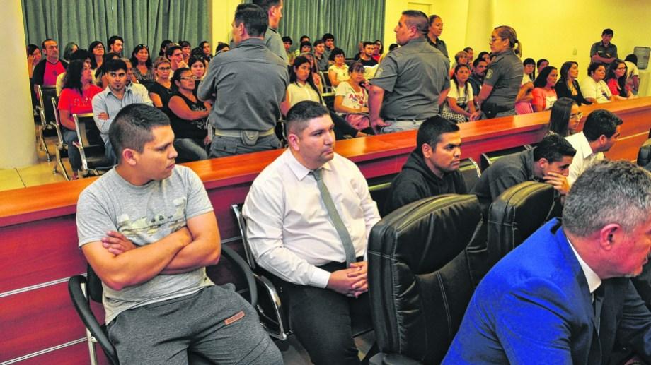 Los imputados presenciaron todas las audiencias del juicio que se desarrolla desde la semana pasada en la Ciudad Judicial. Foto: Juan Thomes