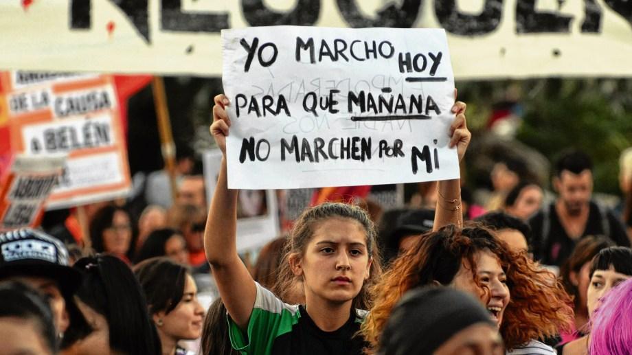 Hoy se realizan el paro y la marcha mundial de mujeres. Archivo Matías Subat
