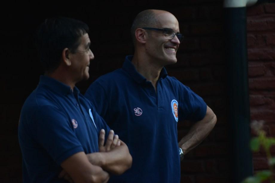 Gustavo López estuvo ayer en las oficinas del CF, donde reafirmó el pedido del Depo.