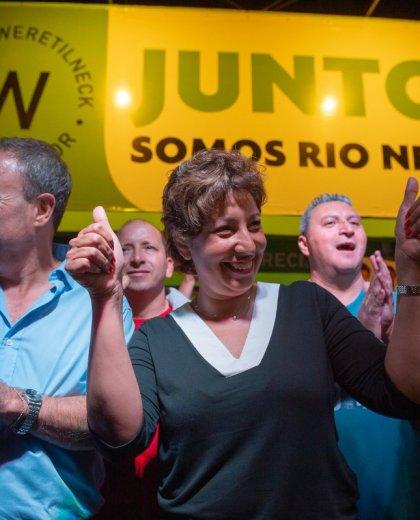 La candidata a gobernadora Arabela Carreras optó por no opinar sobre el aborto legal. (Gentileza)