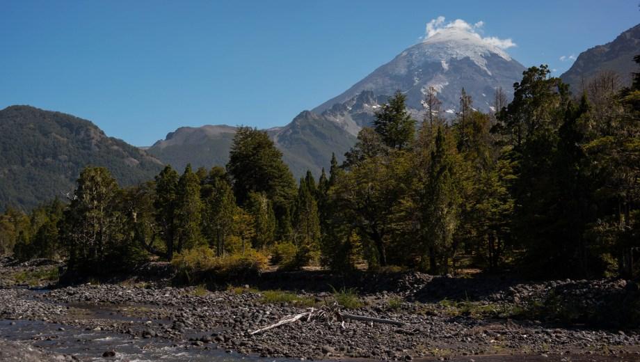 El paisaje que rodea al volcán Lanin. Foto: Archivo