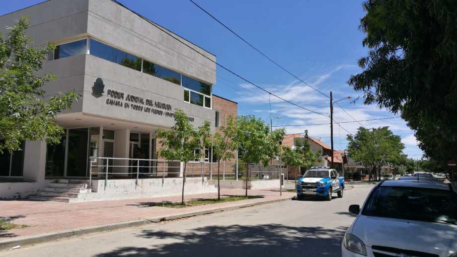El edificio de la justicia en Cutral Co (Gentileza).