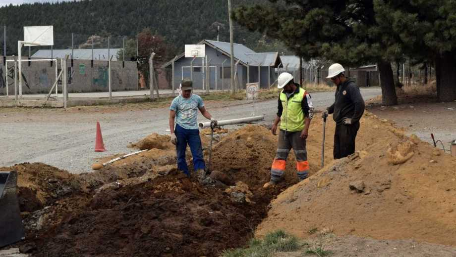 La obra en las cuatro manzanas del barrio Malvinas demorará un mes. Foto: gentileza