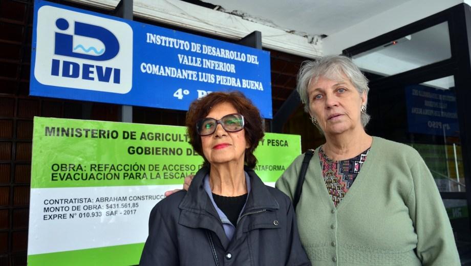 Viedma - 10/04/2019 selva suarez de caño y diana baez de martinez ex arrendatarias del IDEVI siguen esperando reconocimiento del estado foto: Marcelo Ochoa