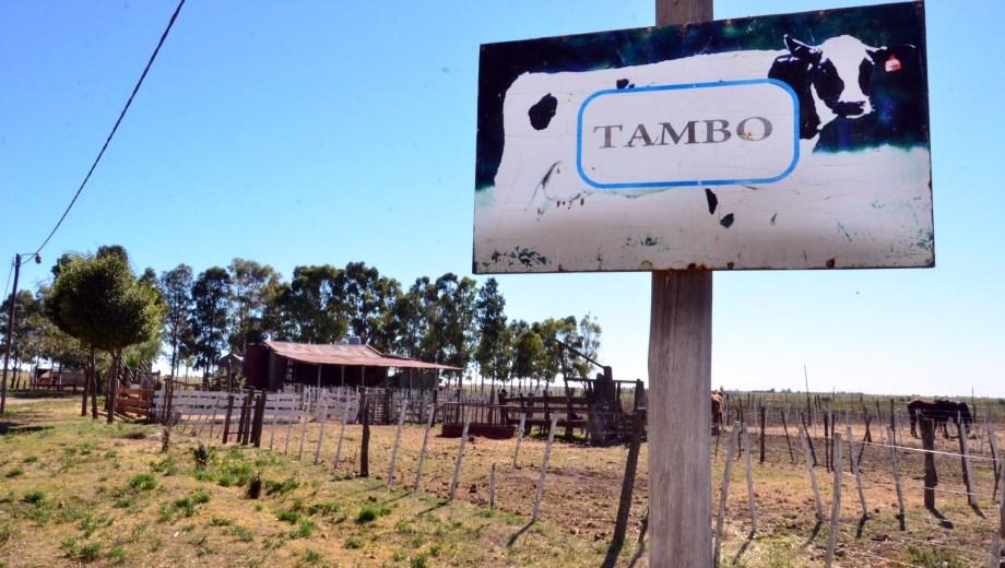 En la escuela agraria de Patagones, se vende leche cruda. Foto : Marcelo Ochoa