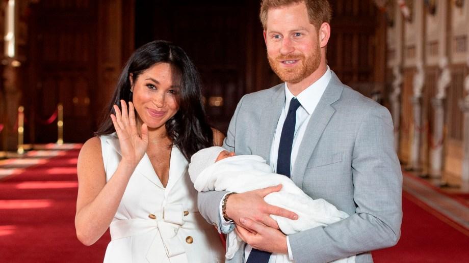 El príncipe Harry y Meghan presentaron a su hijo. Foto Télam