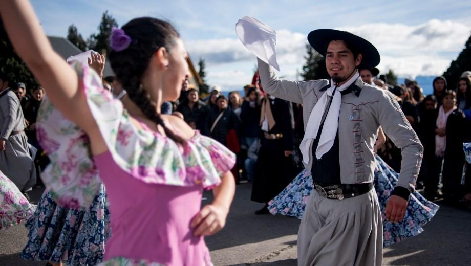Los festejos por el 25 de Mayo. Foto: Marcelo Martínez