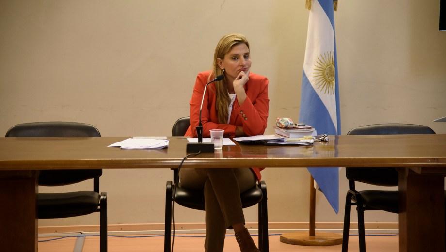 La jueza Romina Martini dispuso que la prensa no participe de la audiencia de formulación de cargos. Foto: Marcelo Martínez