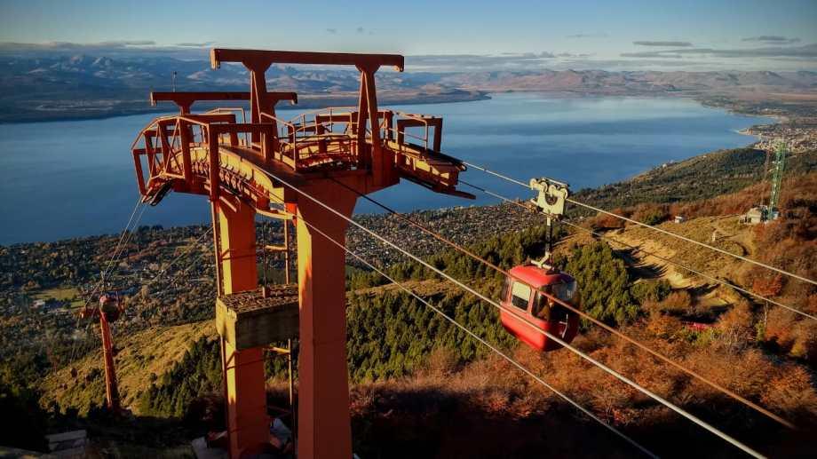 Ayer comenzó a funcionar el Teleférico Cerro Otto. Foto: gentileza