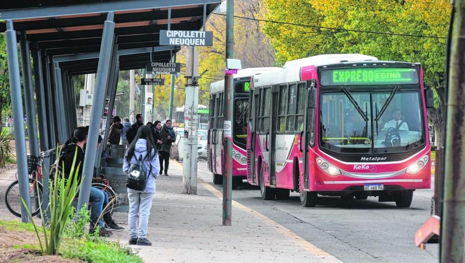Funcionalidad y resguardo en las nuevas paradas de colectivos. (Foto César Izza)