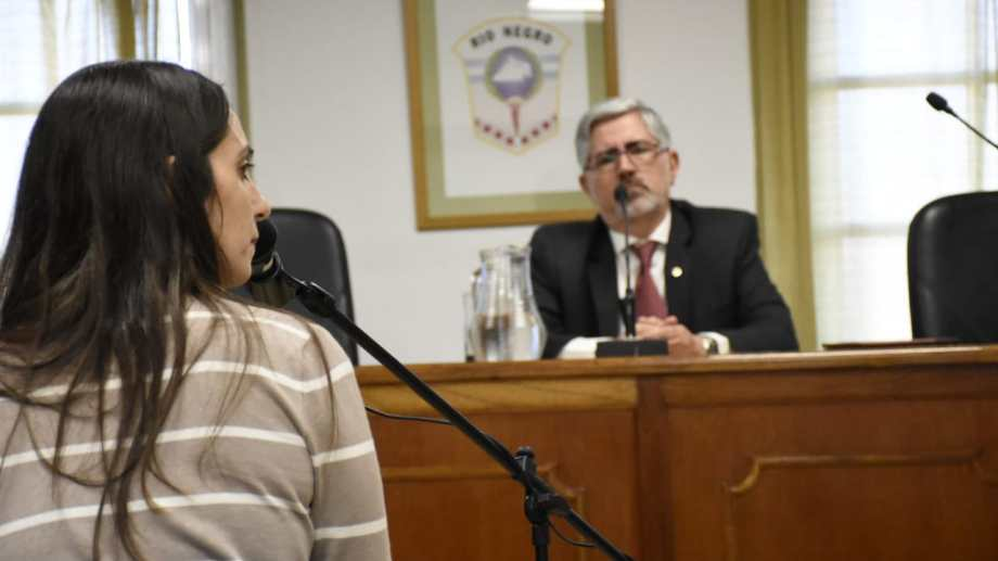 La psicóloga Paula Salto testificó durante el juicio. (Foto: Florencia Salto.-)