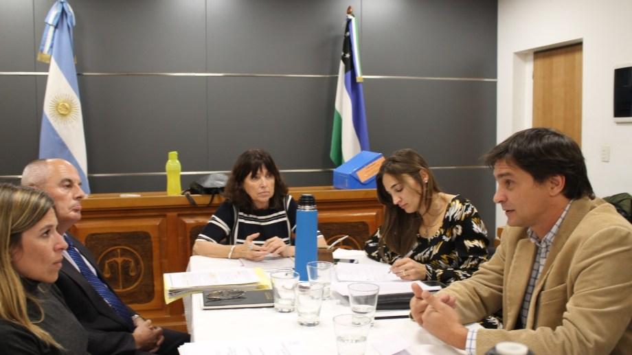 La presidenta del STJ Adriana Zaratiegui dirigió la sesión del Consejo de la Magistratura. (Gentileza)