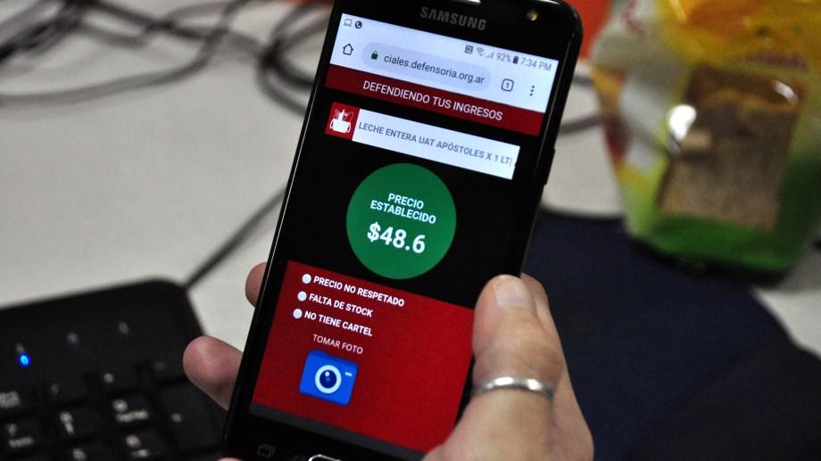 La aplicación se puede usar desde el celular. Foto: Gentileza