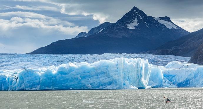 Enorme fractura en los hielos continentales entre Chile y Argentina