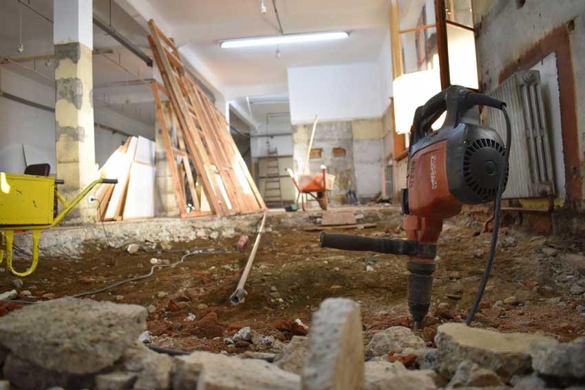 La obra la realiza la empresa Hiza Construcciones.