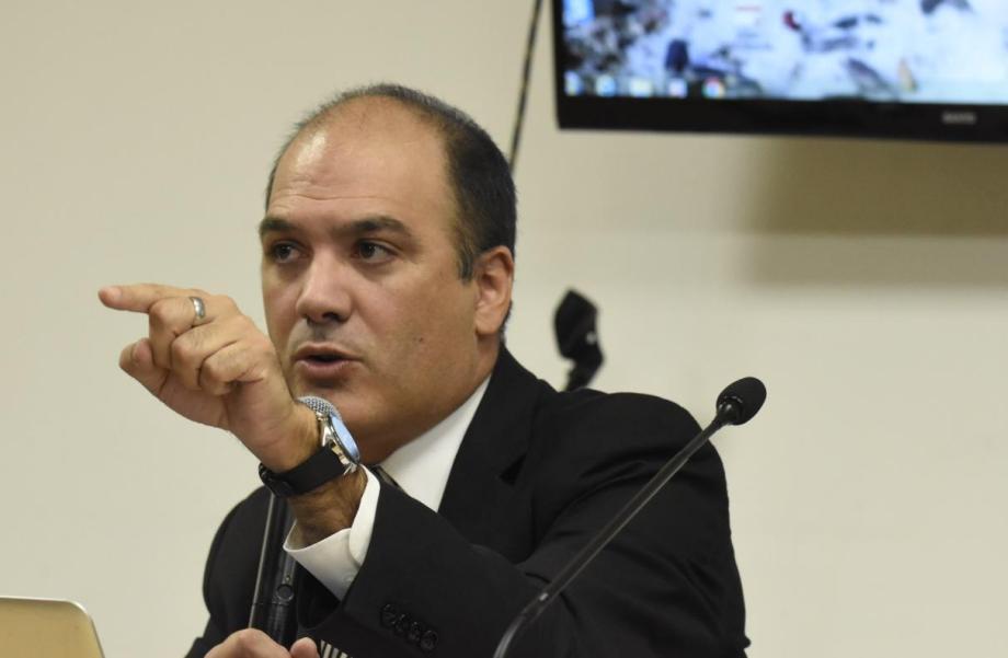 El fiscal jefe Santiago Márquez Gauna pidió un veredicto de culpabilidad. (Foto: Florencia Salto.-)