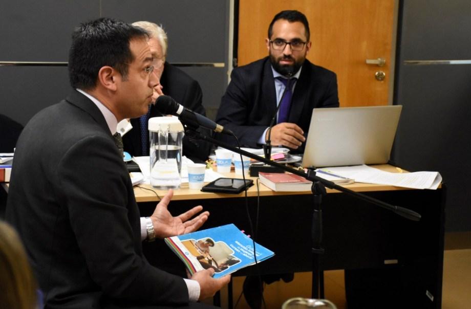 Leandro Rodríguez Lastra volvió a declarar ante el juez Álvaro Meynet. (Foto: Florencia Salto.-)