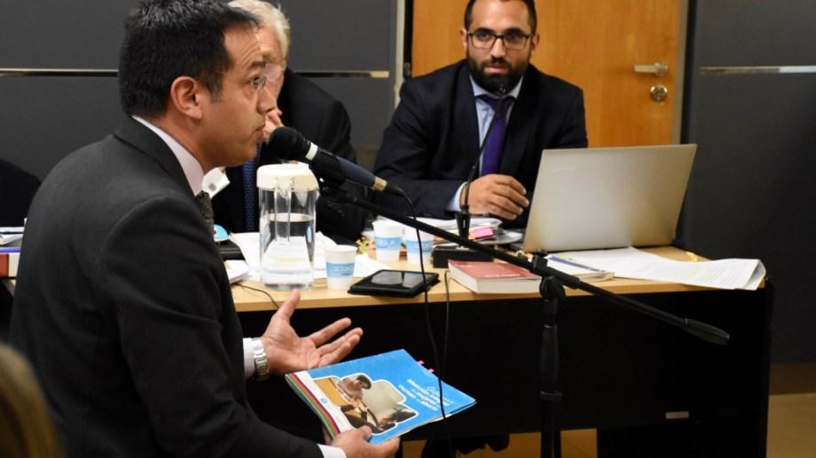 Leandro Rodríguez Lastra en una de sus declaraciones en el juicio oral. (Archivo: Florencia Salto.-)