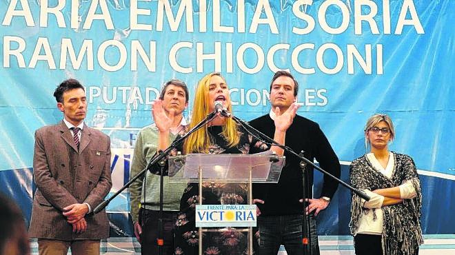 Los cuatro candidatos en el 2017, cuando el FpV ganó con el 49%. Foto: archivo